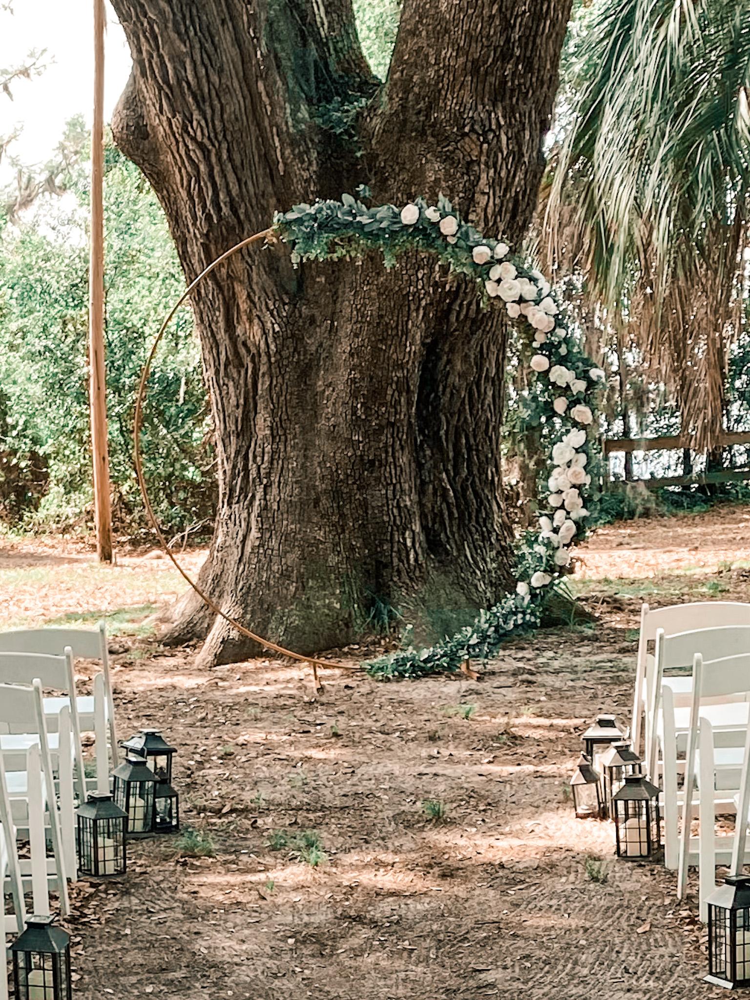 Gold Metal Wedding Arch