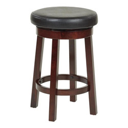 Black Wooden Barstool