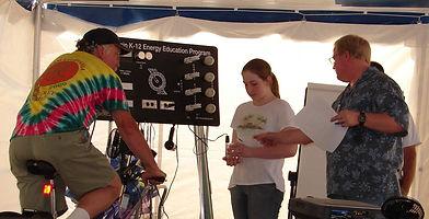 Pedal Power Energy Bike Btu lab in Energ