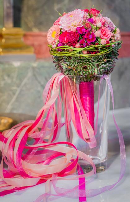Brautstrauß in Pink
