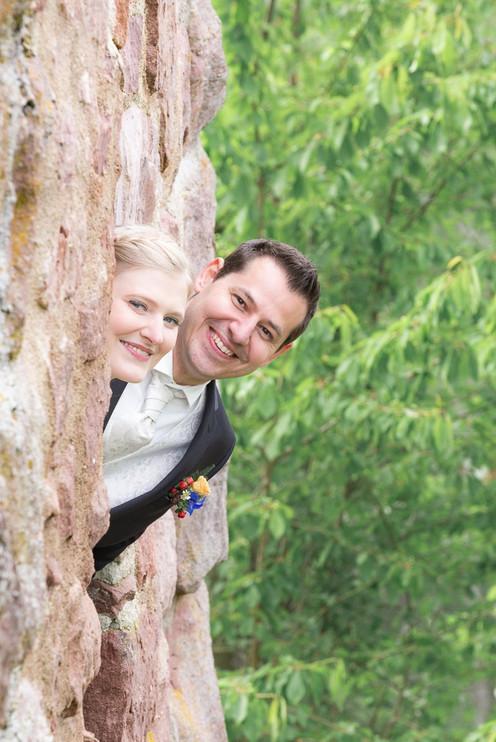Brautpaar im Profil