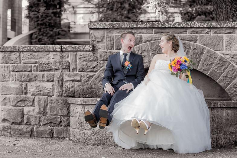 Brautpaar auf dem Brunnen