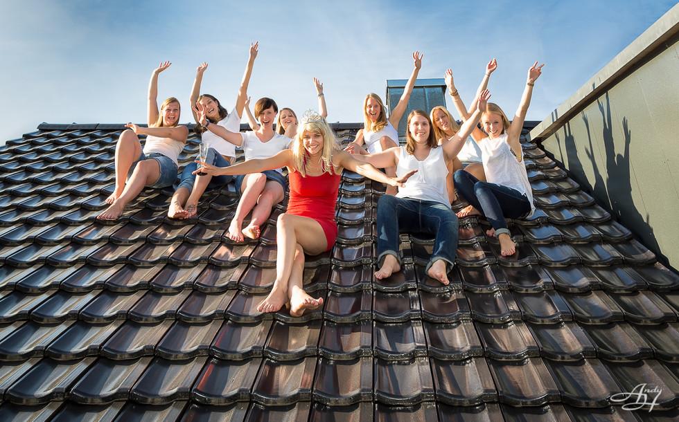 JGA Fotoshooting auf dem Dach