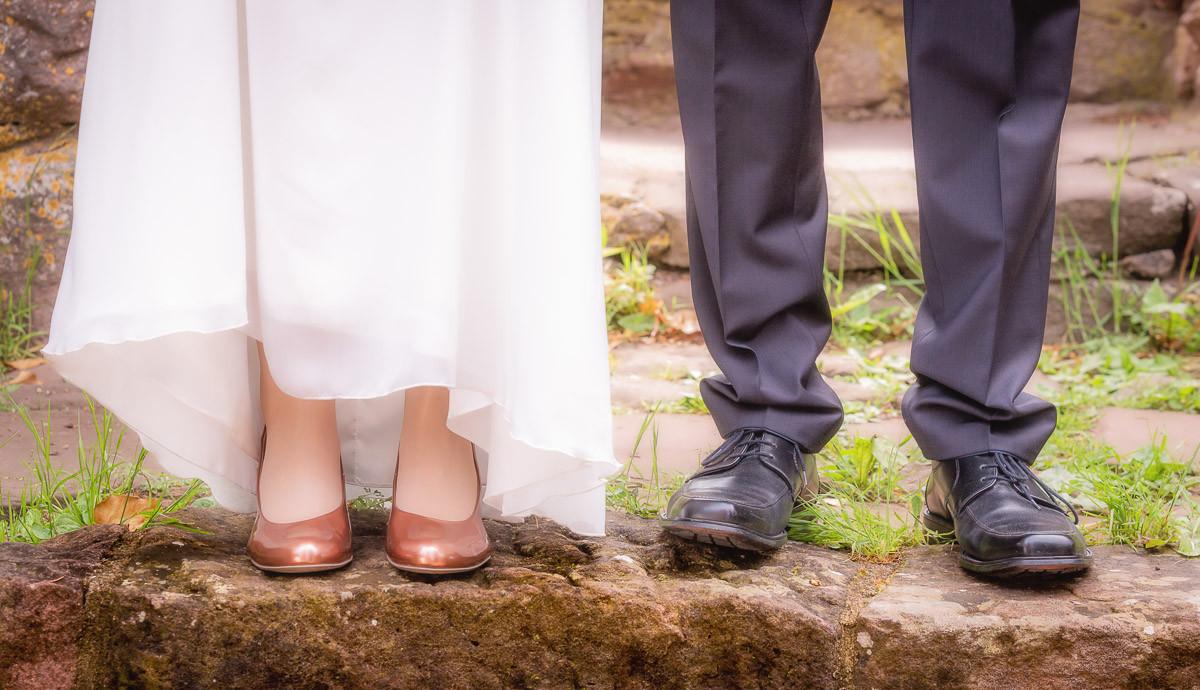 Brautpaar Schuhe