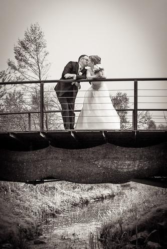 Brautpaar Schwarz-Weiß Foto
