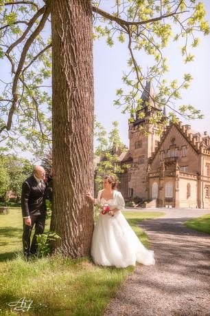 Brautpaar Shooting im Schlosspark