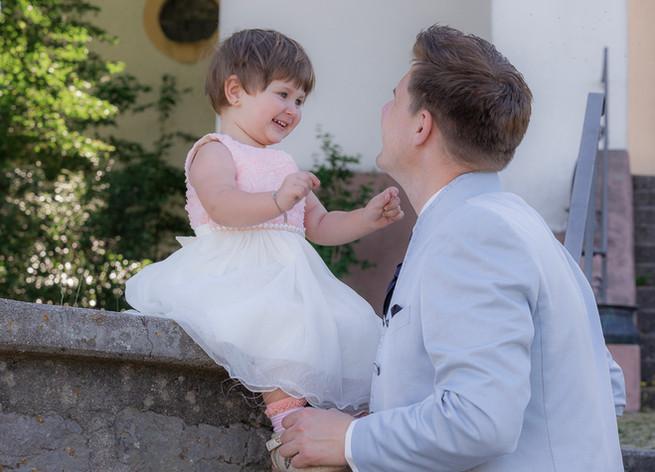 Mädchen mit Papa