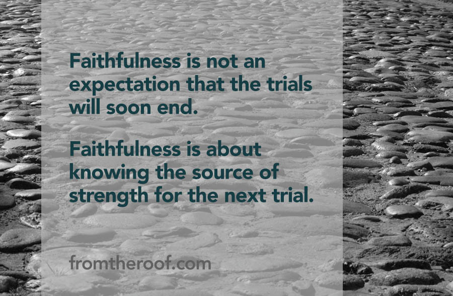 Faith faithfulness Carol Reeve Christian writer on women's issues