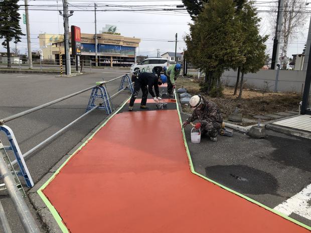 舗装(通路)部分の塗装工事