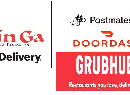 DoorDash , Postmates, and Grubhub ,MinGa's partners to Deliver Bibimbap and much, much more!!