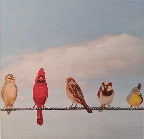 Birds on a Wire (detail 1)
