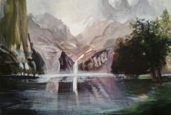 Study of Albert Bierstadt's Among the Sierra Nevada, California