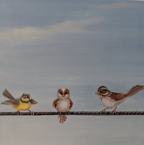 Birds on a Wire (detail 2)