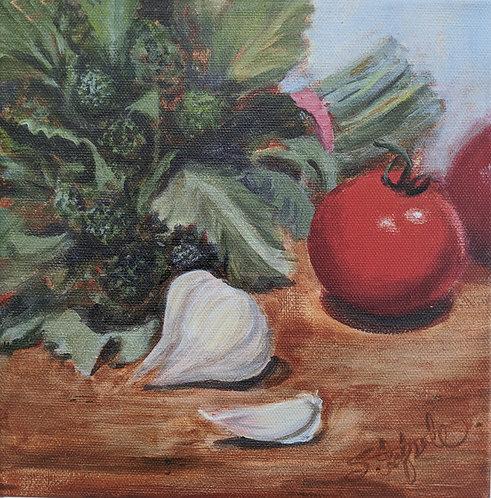 Tomato, Rapini, Garlic Study