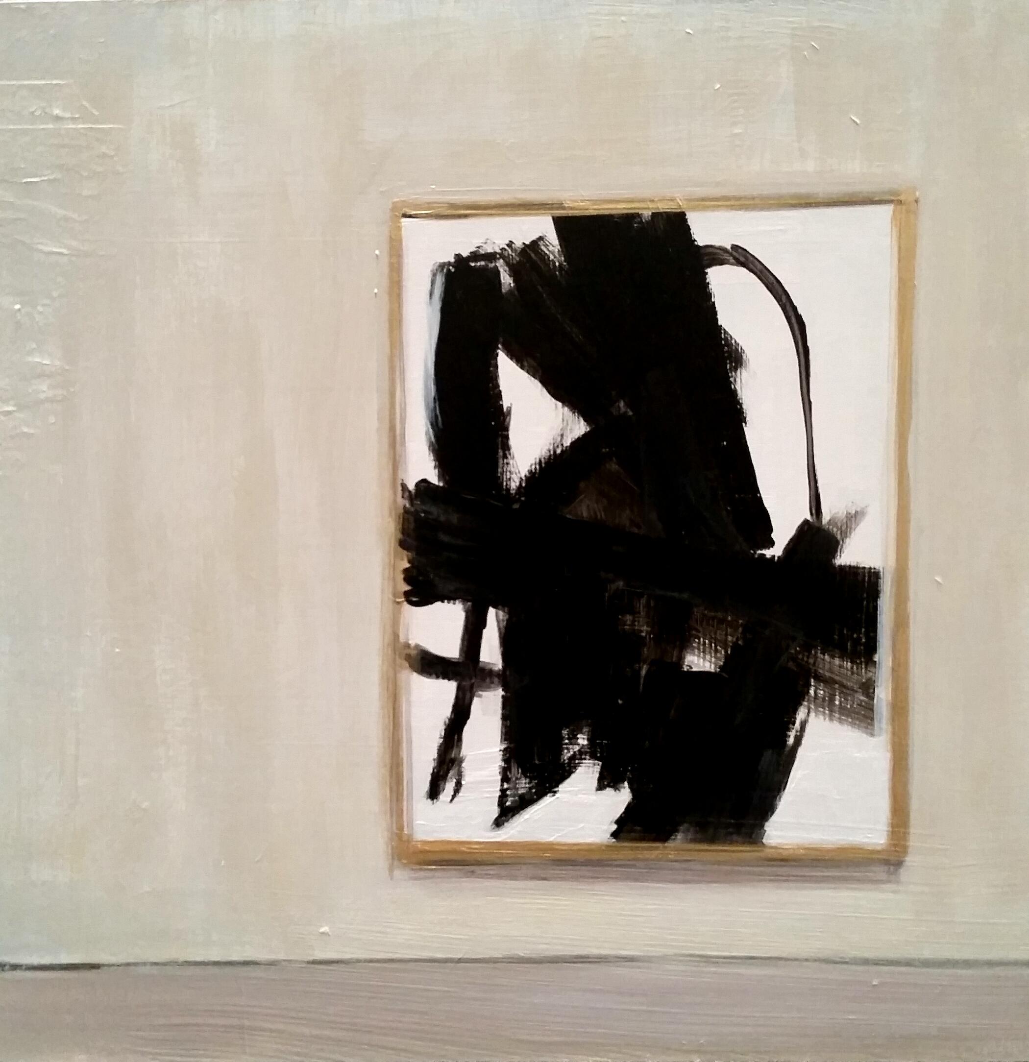 Study of Franz Kline's _Merce C_ Hanging in Gallery