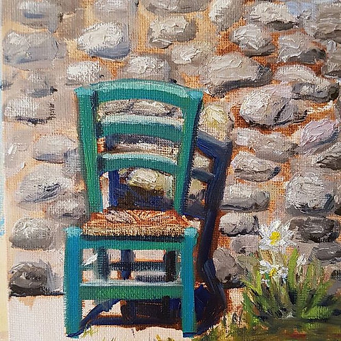 Staw Chair in Tuscany