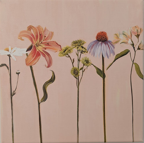 Wildflowers in a Row (detail 2)