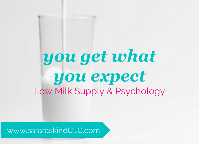 You get what you expect- low milk supply and psychology