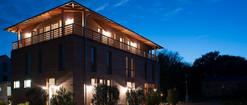 Landgut Schönwalde Gasthaus bei Nacht