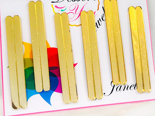 Gold Mirror Cakesicle | Stick Set of 12