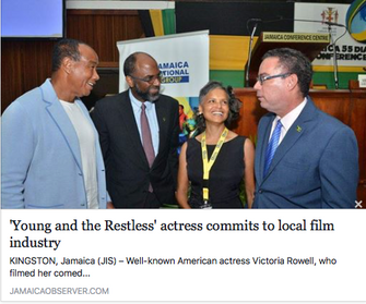 The Jamaica Observer: 'Young and the Restless' actress commits to local film industry