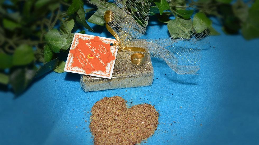 Orange Flaxseed Soap