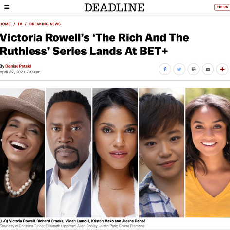 Deadline: Victoria Rowell's 'The Rich And The Ruthless' Series Lands At BET+