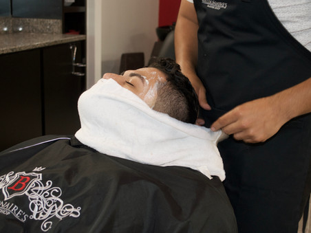 FREE HOT TOWEL TREATMENT - This weekend ONLY included with services $50+
