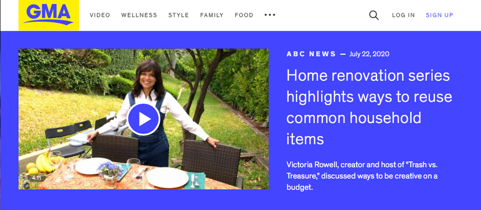 Good Morning America: Home Renovation series highlights ways to reuse common household items