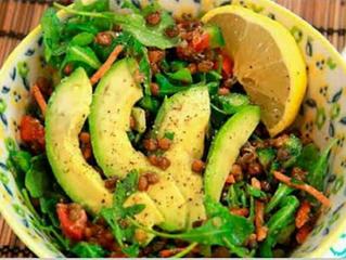 Lentil Avocado Salad