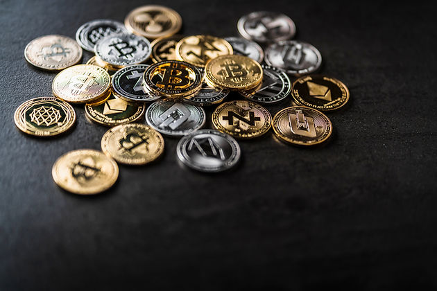 symbol of crypto currency coin virtual m