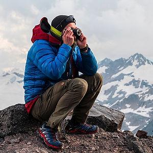 Torkjel in Camp Garabashi, Elbrus. Photo: Andreas Ebbesen
