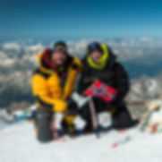 Torkjel Hurtig and Andreas Ebbesen on the summit of Elbrus
