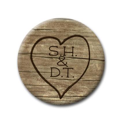 Initial Heart (Qty 50)