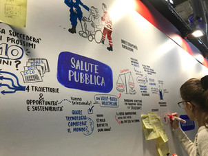 Live Graphic Recording during a Croce Rossa event.