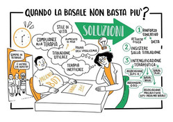 Scribing event in Padova, talking about diabetes