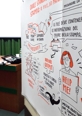 Scribing event in Milan