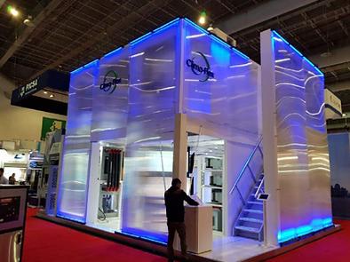 stand isla comercial estuctura taller carpintero expo