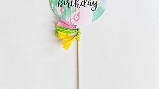 Happy Birthday Balloon Cake Topper