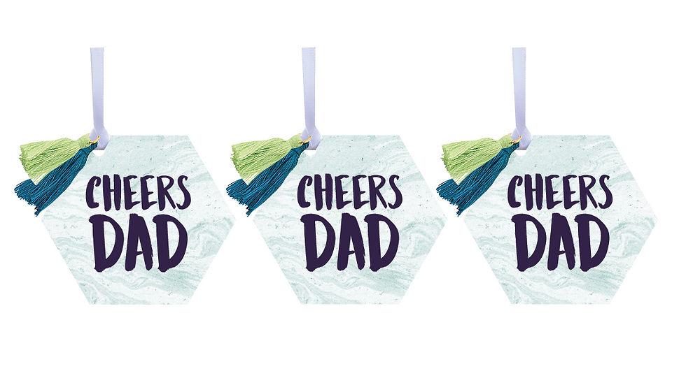 Cheers Dad Wine Tags