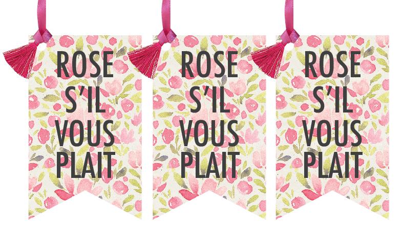 Rosé S'il Vous Plait Wine Tags