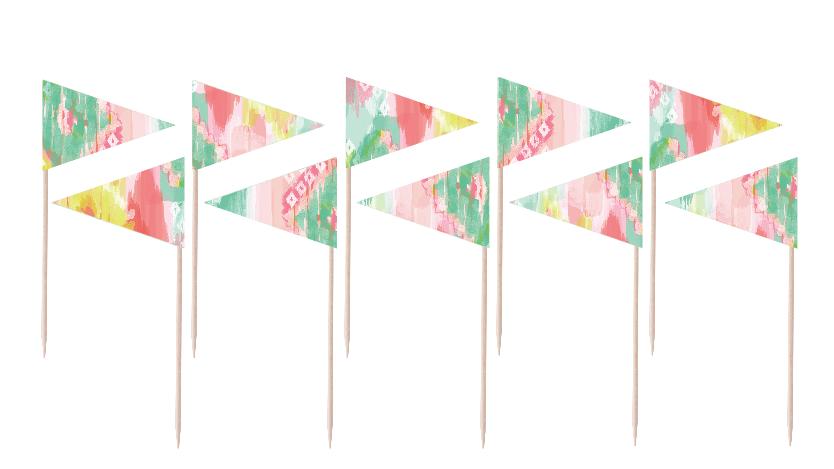 Neon Flag Party Picks