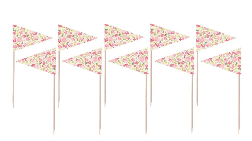 Rosette Flag Party Picks
