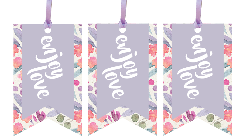 Enjoy Love Gift Tags