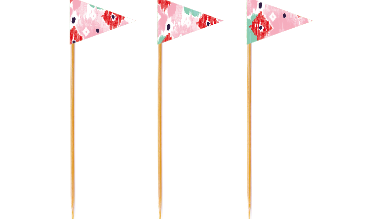 Watercolor Tall Toppers