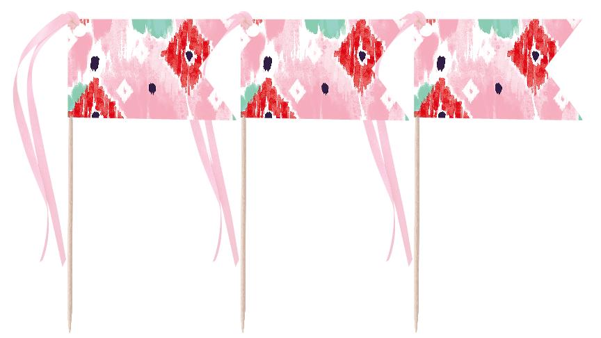 Watercolor Pennants