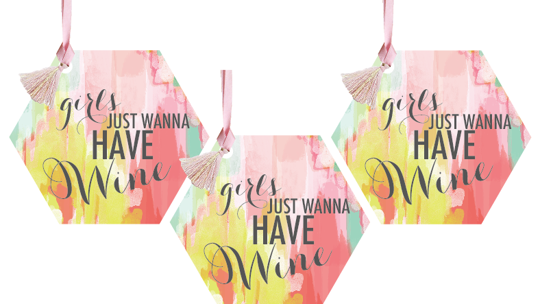 Girls Just Wanna Have Wine Wine Tags