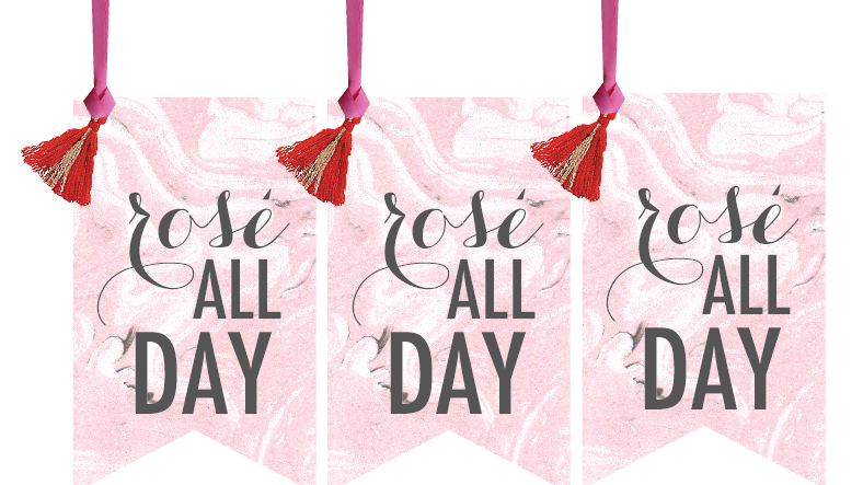 Rosé All Day Wine Tags