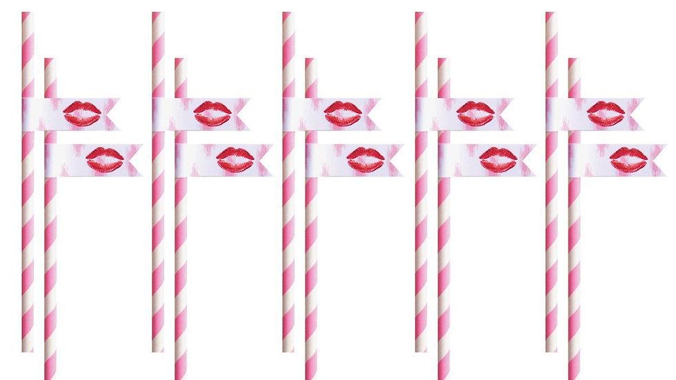 Kisses Paper Straws