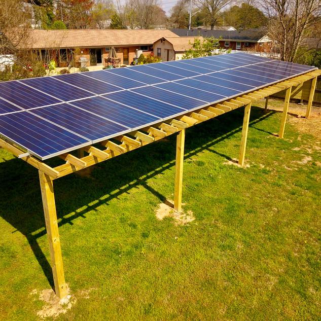 10 kW Custom Solar Pergola - Cleveland TN